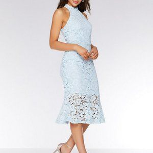 Quiz Blue Crochet Lace Midi Dress NWT 10